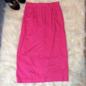 Vintage handmade Barbie pink pencil skirt